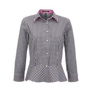 LAUREN Ralph Lauren • Peplum Hem Gingham Shirt